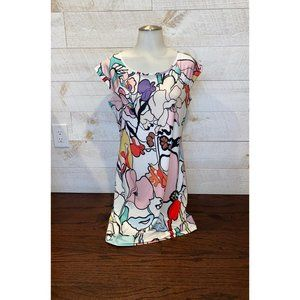 Jean Pierre Klifa Abstract Floral Dress Size M